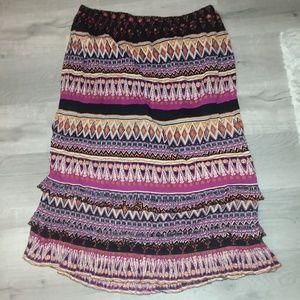 Festive tribal aztec skirt 3X